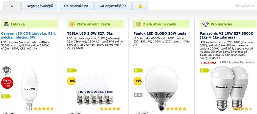 podle čeho vybírat LED žárovky