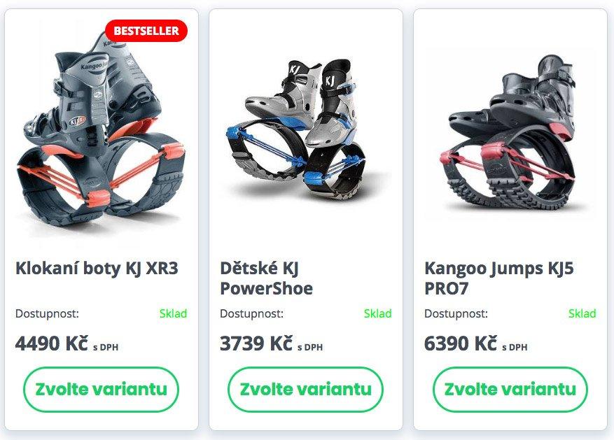 Prodej klokaních bot