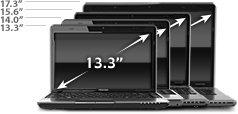 Srovnání velikostí notebooku