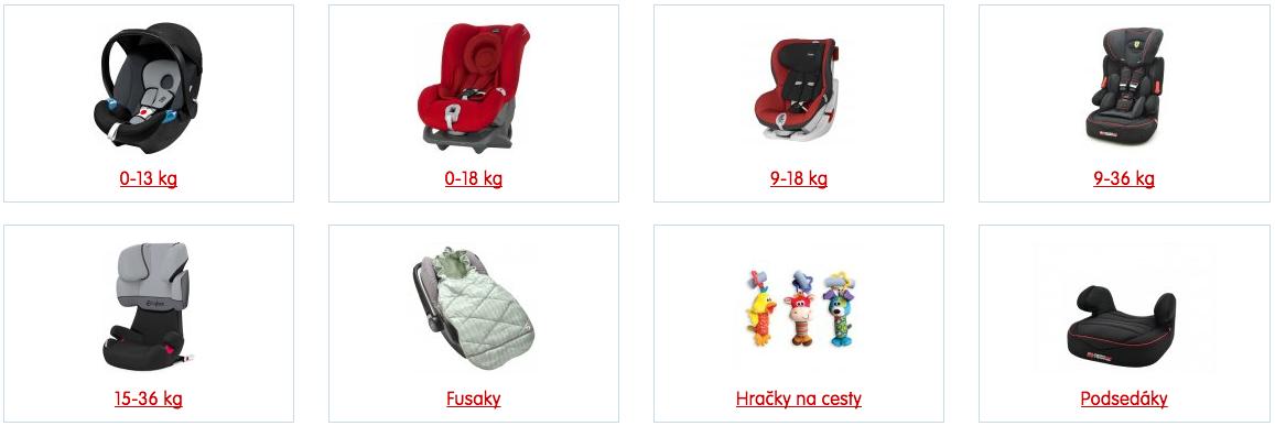 Prodej dětských autosedaček