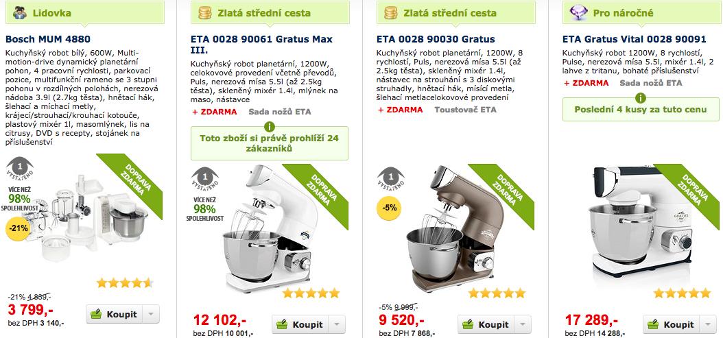 Prodej kuchyňských robotů