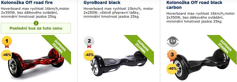 hoverboard prodej