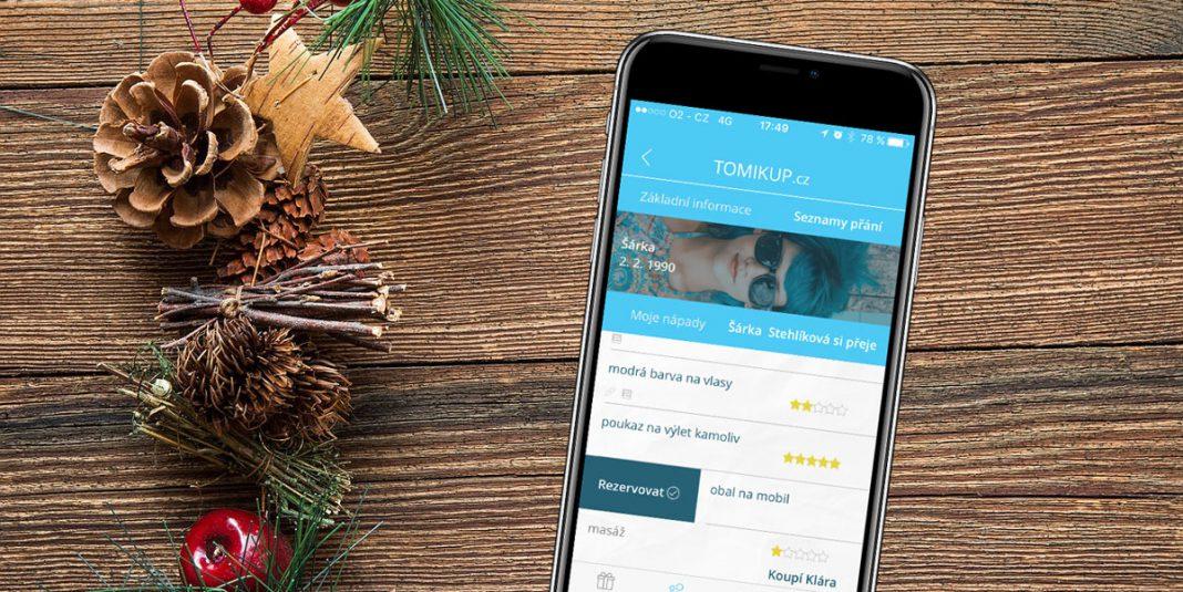 Vánoční aplikace Tomikup
