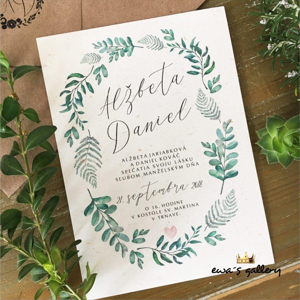 Vkusné svatební oznámení